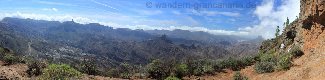 Panoramic views from the Cuevas de Caballero, at the Morisco Hike