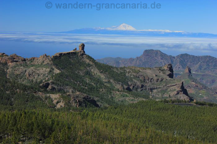 View from pico de las nieves on the panoramic hiking route