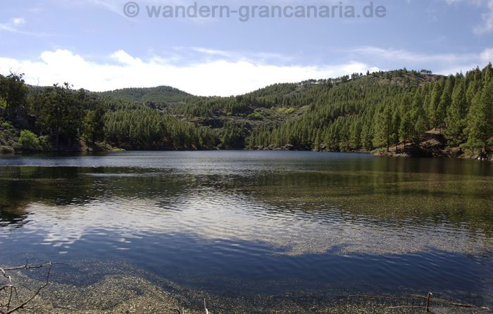Reservoir in the center of Gran Canaria at the walking route Panorama Tour